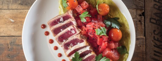 grain. Seared Tuna