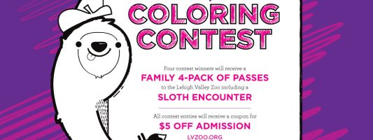 Lehigh Valley Zoo Coloring Contest 2018